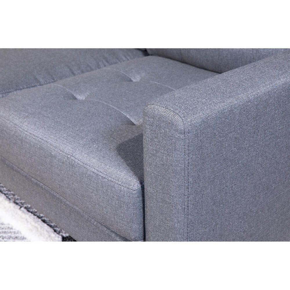 Signature Design by Ashley DuBarry Nuvella Loveseat in Charcoal, , large