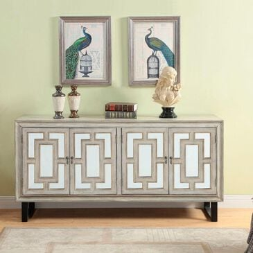 Shell Island Furniture Credenza in Garner Textured Cream, , large