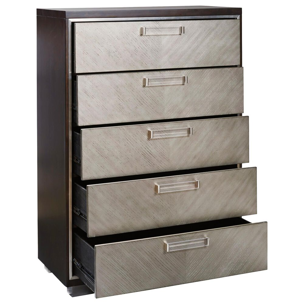 Signature Design by Ashley Maretto 5 Drawer Chest in Two-tone, , large