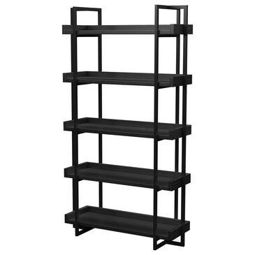 Furniture of America Harmon Ladder Shelf in Black, , large