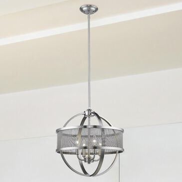 Golden Lighting Colson PW 4-Light Chandelier (with shade) in Pewter, , large
