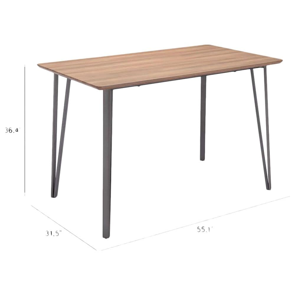 Zuo Modern Doubs Counter Table in Brown and Silver, , large