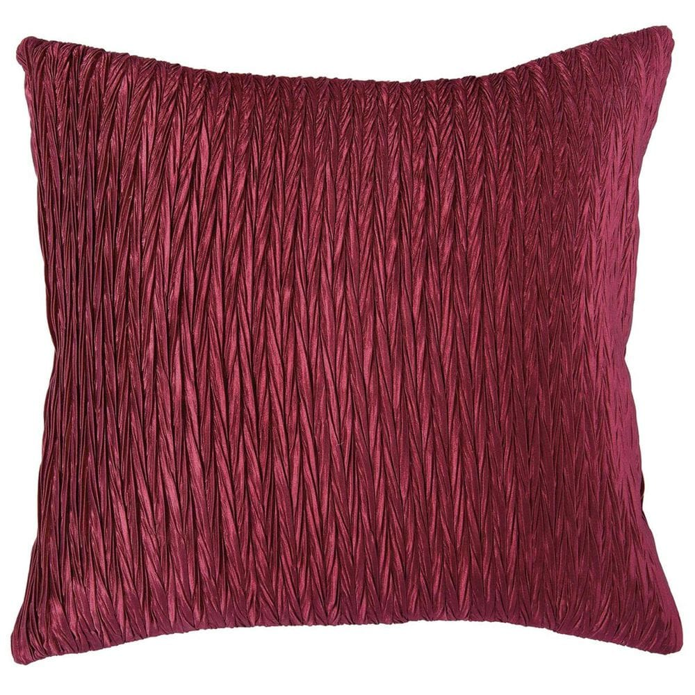 """Rizzy Home 18"""" x 18"""" Pillow Cover in Red, , large"""