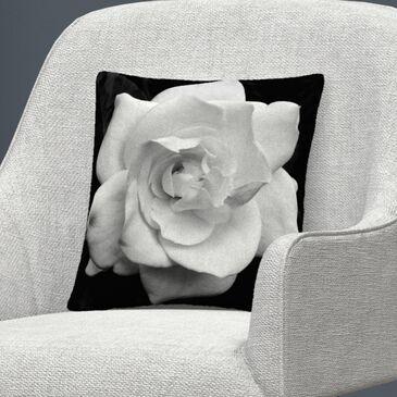 Timberlake Kurt Shaffer 'Gardenia in Black and White' 16 x 16 Decorative Throw Pillow, , large