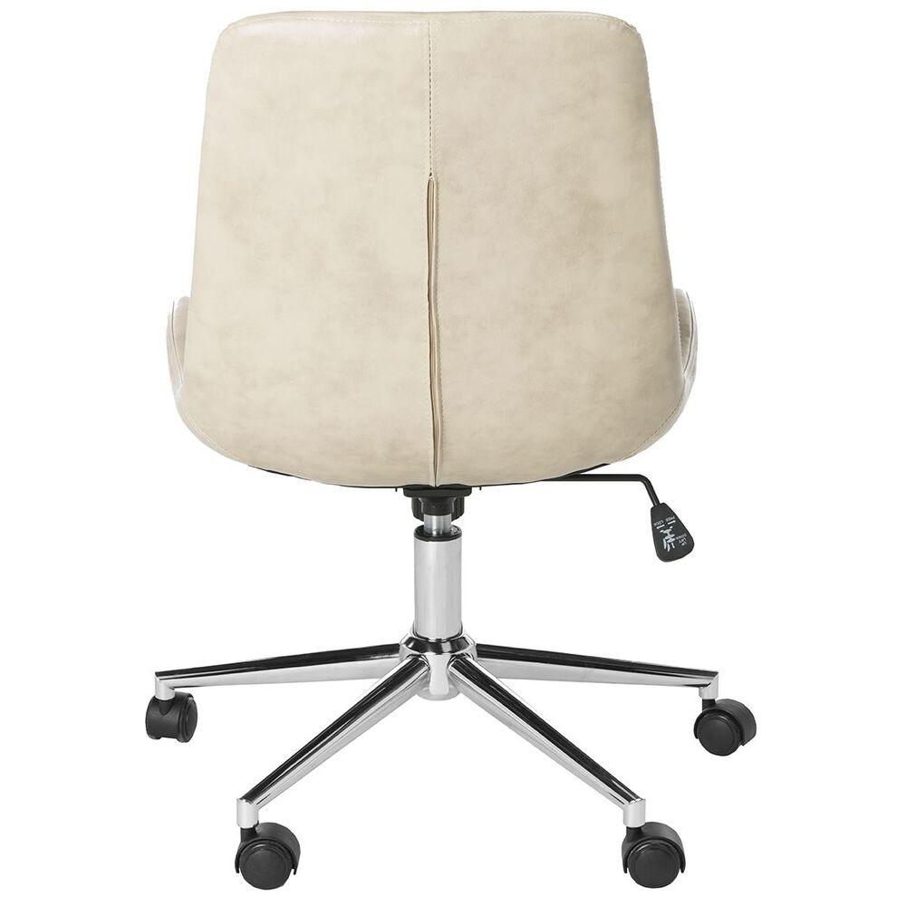 Safavieh Fletcher Swivel Office Chair in Beige/Chrome, , large