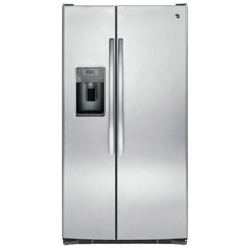 GE Appliances 25.4 Cu. Ft. Side-By-Side Refrigerator, Stainless Steel, large