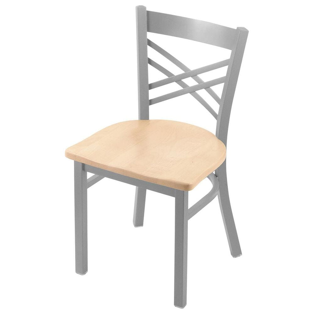 """Holland Bar Stool 620 Catalina 18"""" Chair with Anodized Nickel and Natural Maple Seat, , large"""