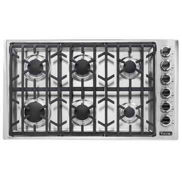 """Viking Range 36"""" Professional Natural Gas Cooktop in Stainless Steel, , large"""