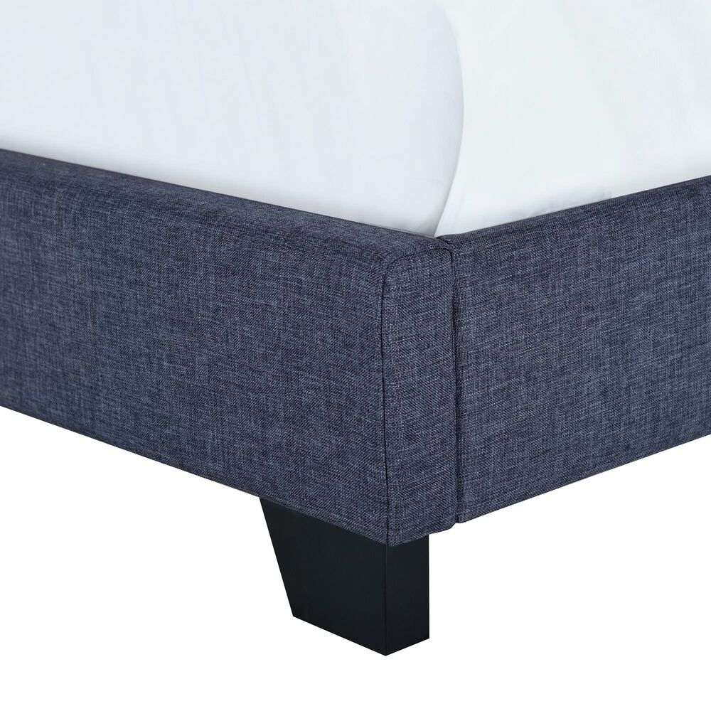 Accentric Approach Twin Upholstered Bed in Blue, , large