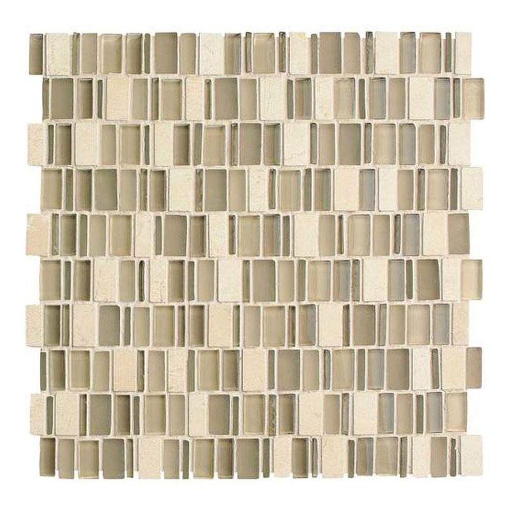 "Dal-Tile Clio Mosaics Nox 12"" x 12"" Glass and Stone Mosaic Sheet, , large"