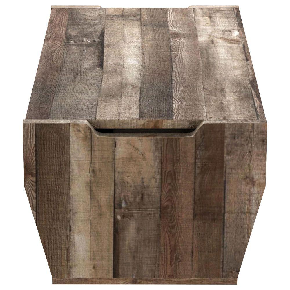Furniture of America Mcclain Coffee Table in Reclaimed Barnwood, , large