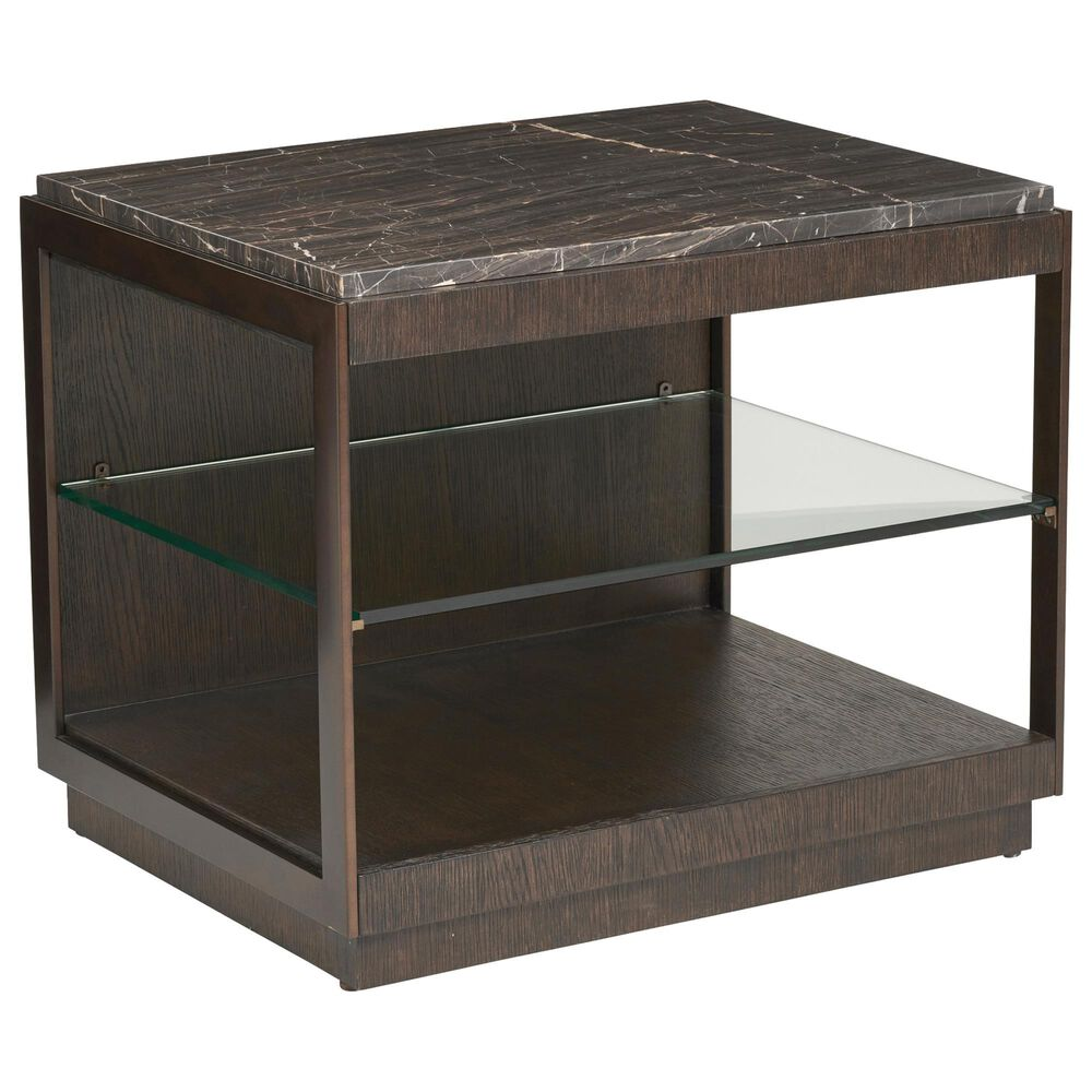Lexington Furniture Summit End Table in Dark Mocha Canyon and Alpine, , large