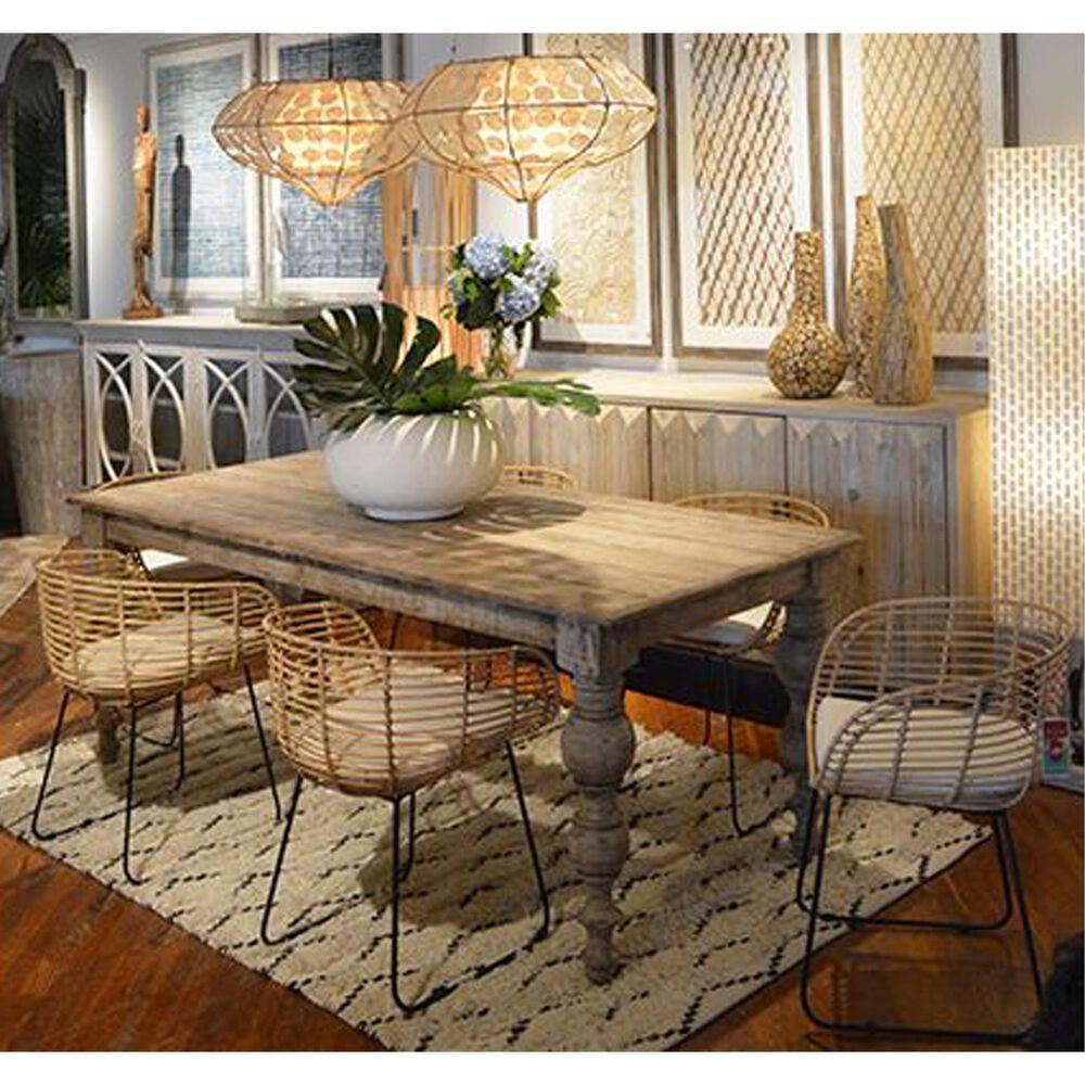 Blue Sun Designs Merak Dining Table in Brown/Grey, , large