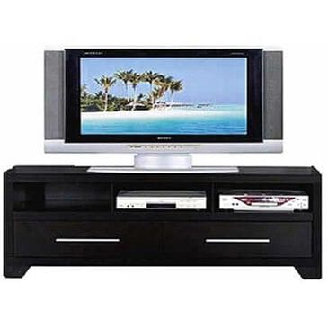 "Living Essentials 60"" TV Stand in Black, , large"