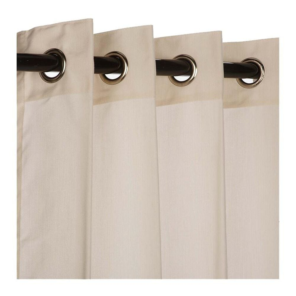"The Hammock Source Sunbrella 50"" x 108"" Outdoor Curtain Grommet Panel in Spectrum Eggshell, , large"