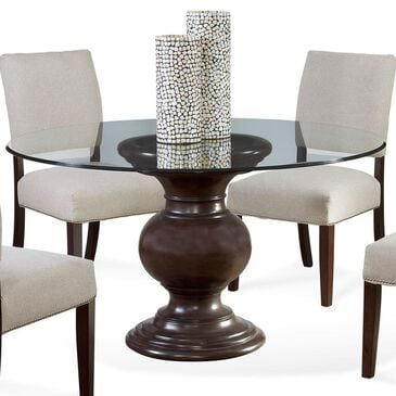 """Tara Home Aria 54"""" Glass Top Dining Table in Grey Wash - Table Only, , large"""
