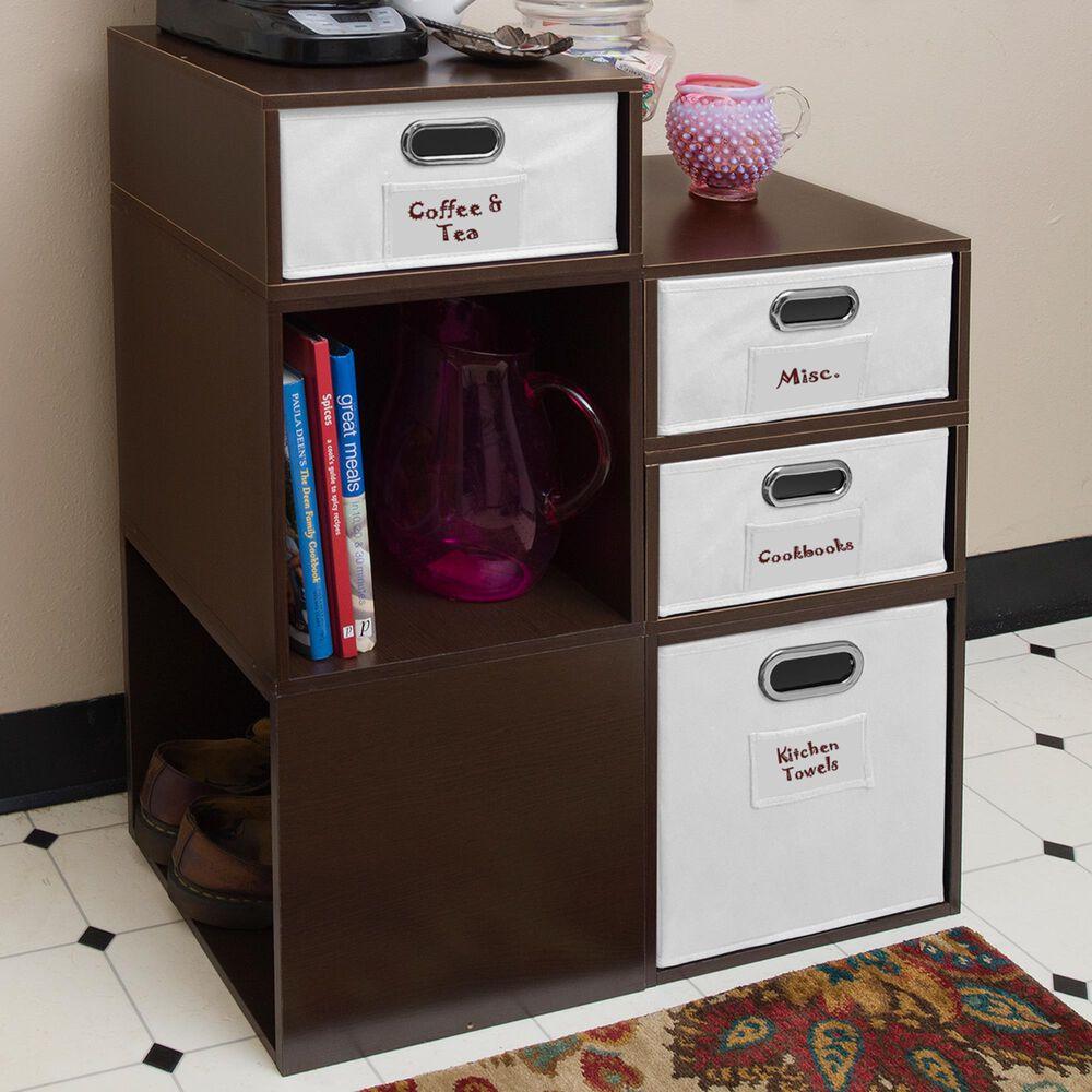 Regency Global Sourcing Niche Cubo 6-Piece Storage Set in Truffle/White, , large