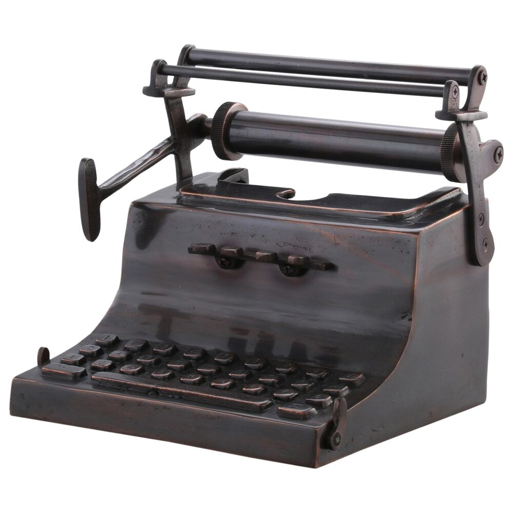 Moe's Home Collection Typewriter Sculpture in Brown, , large