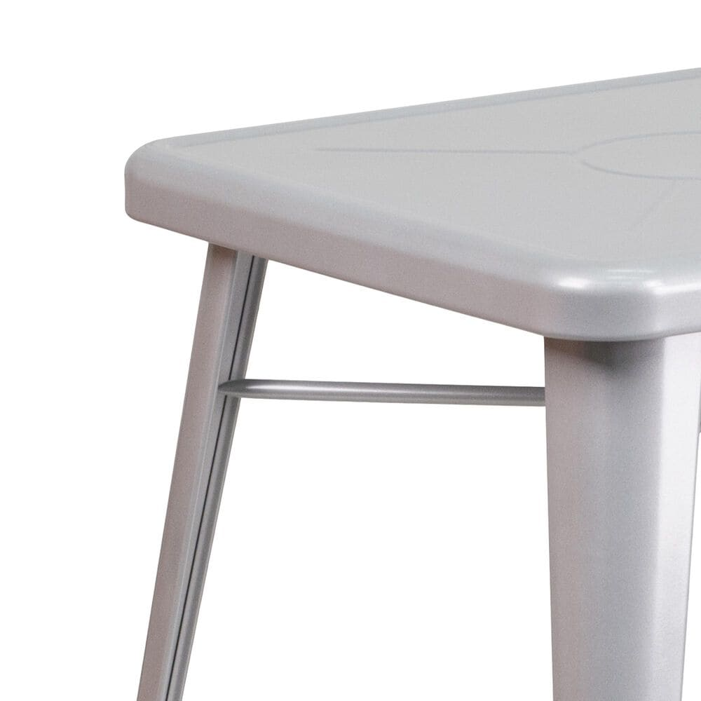"""Flash Furniture 23.75"""" Table in Gray, , large"""