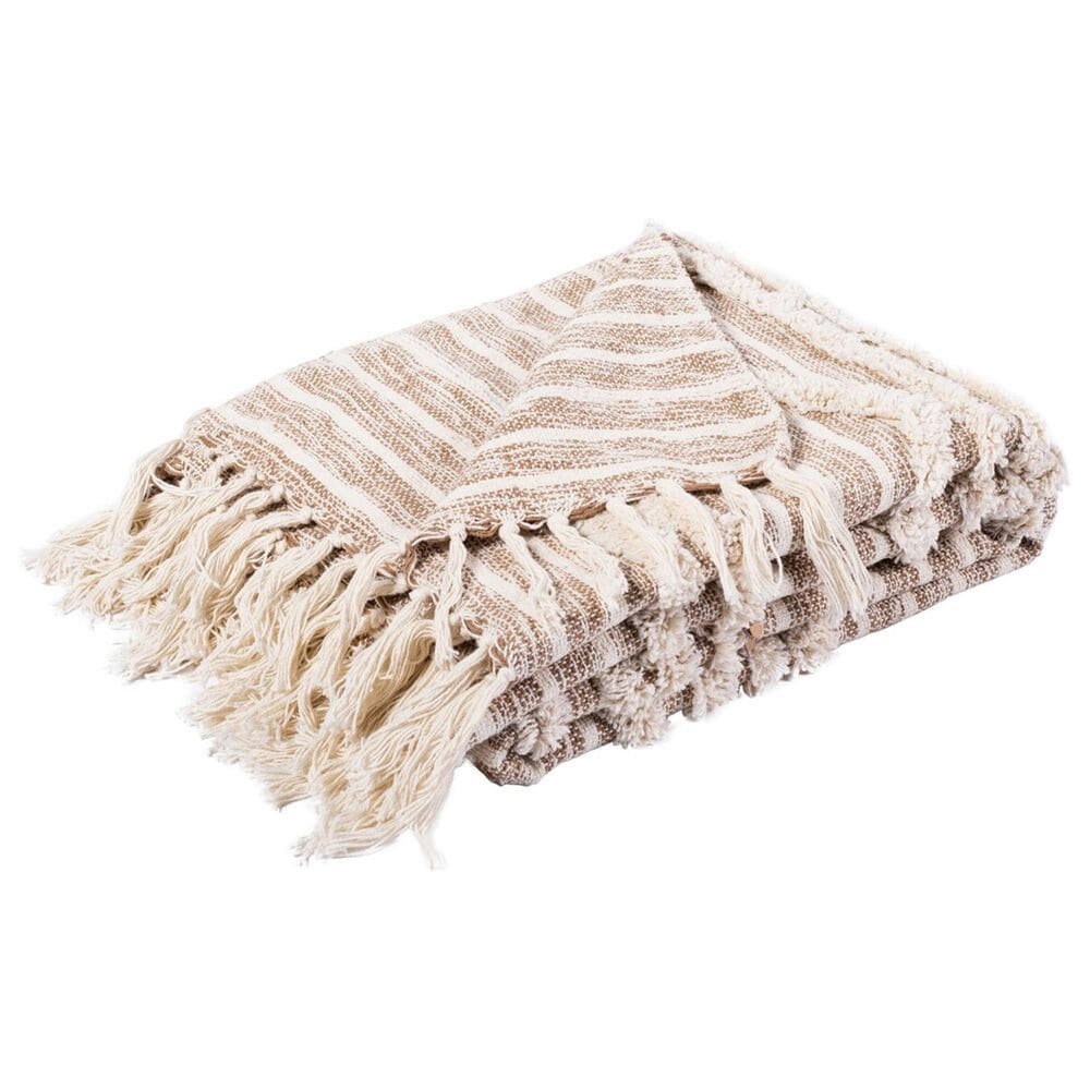 """Safavieh Renali 50"""" x 60"""" Throw in Ivory and Beige, , large"""