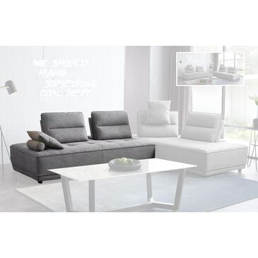 Lily and Lee Furniture Slate Lounger with Moveable Backrests in Gray, , large