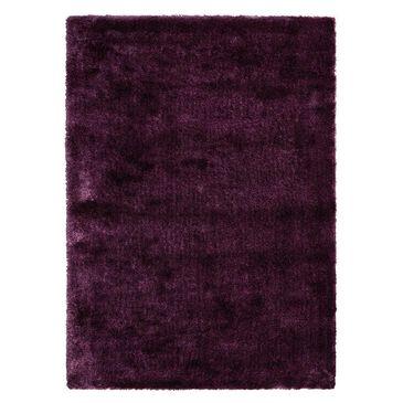 """Nourison Glimmer Shag GLI01 5"""" x 7"""" Purple Area Rug , , large"""