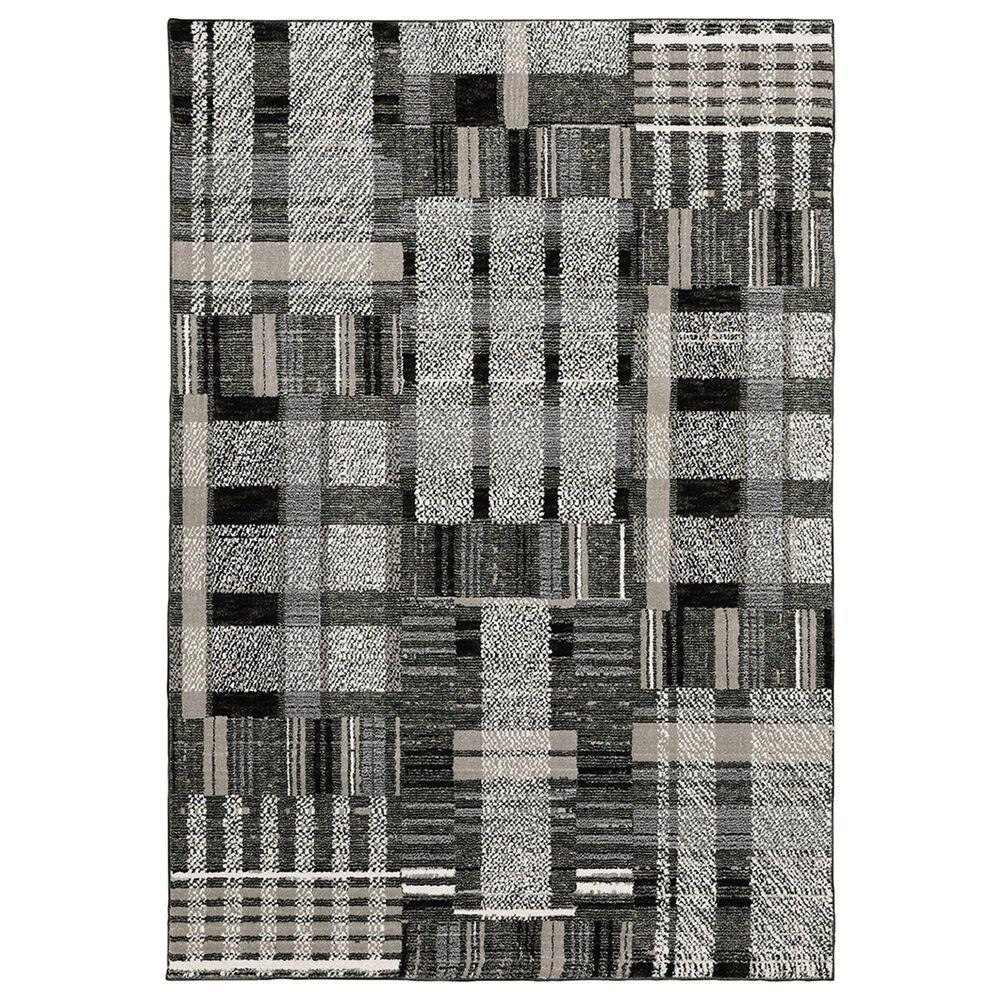 "Oriental Weavers Atlas Geometric 752C0 7""10"" x 10""10"" Black Area Rug, , large"