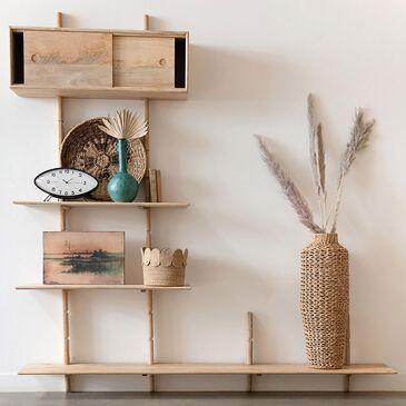 Teak Interiors Mango Wood Wall Shelf, , large