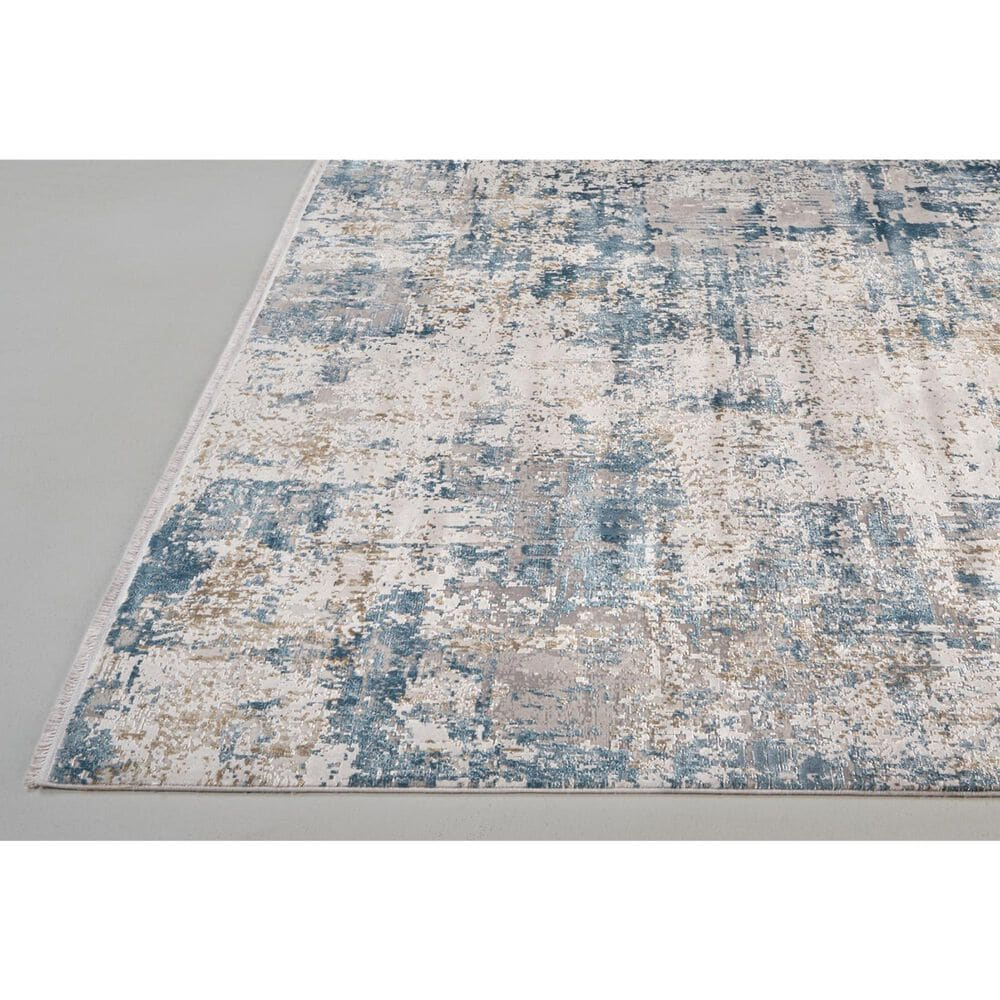 """Feizy Rugs Cadiz 3891F 6'6"""" x 9'6"""" Blue and Ivory Area Rug, , large"""