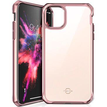 ITSkins Apple iPhone 11 Hybrid Glass Iridium Case Rose Pink , Pink, large