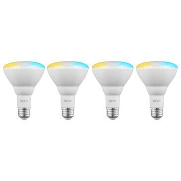 Nexxt BR30/E26 4-Pack Smart Wifi Floodlamp Bulb in White, , large