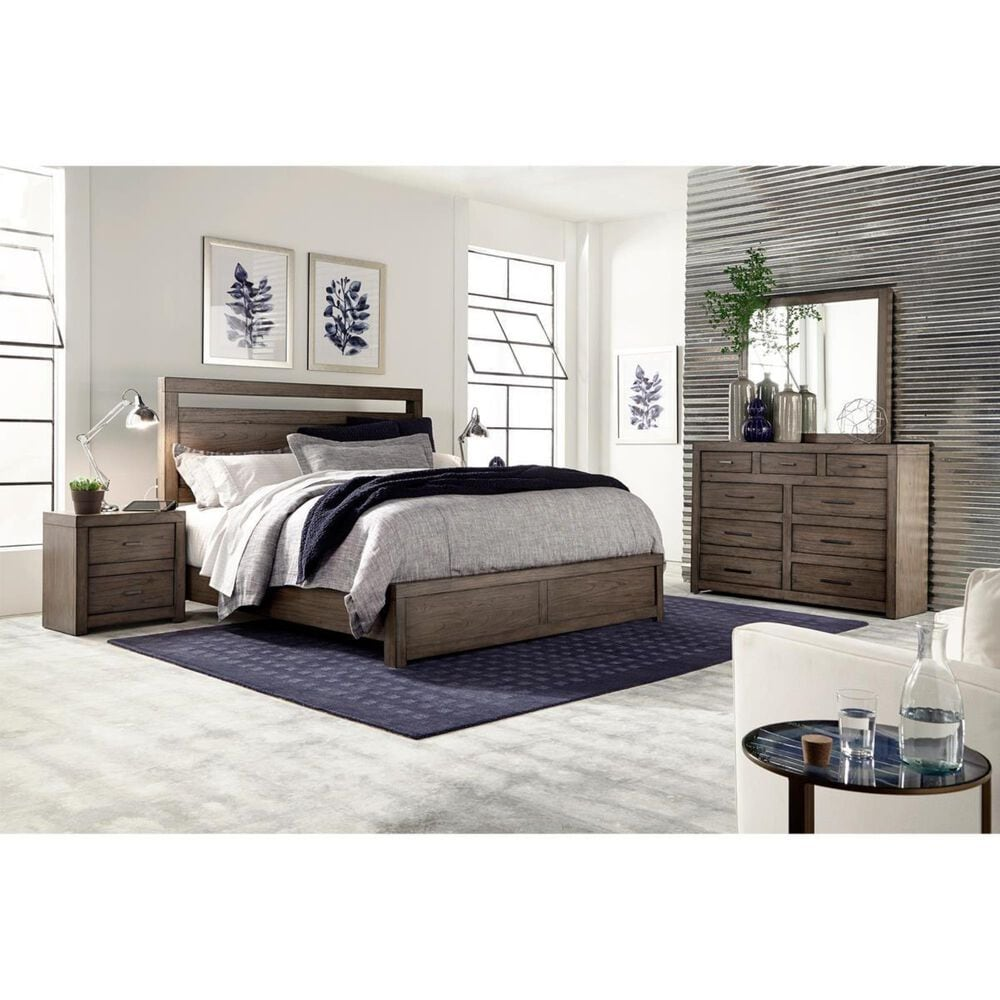 at HOME Modern Loft 4 Piece King Bedroom Set in Greystone, , large