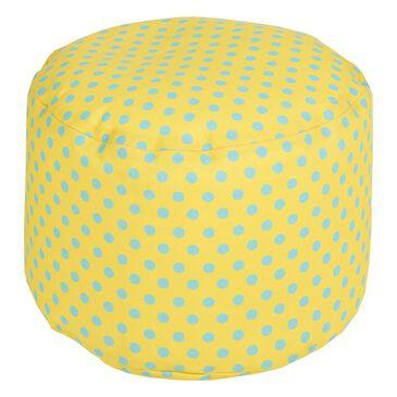 Surya Inc Polka Dot Cylinder Pouf in Sunflower , , large