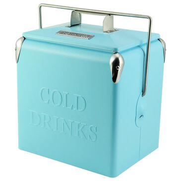 Permasteel 14 Quart Portable Picnic Cooler in Turquoise, , large