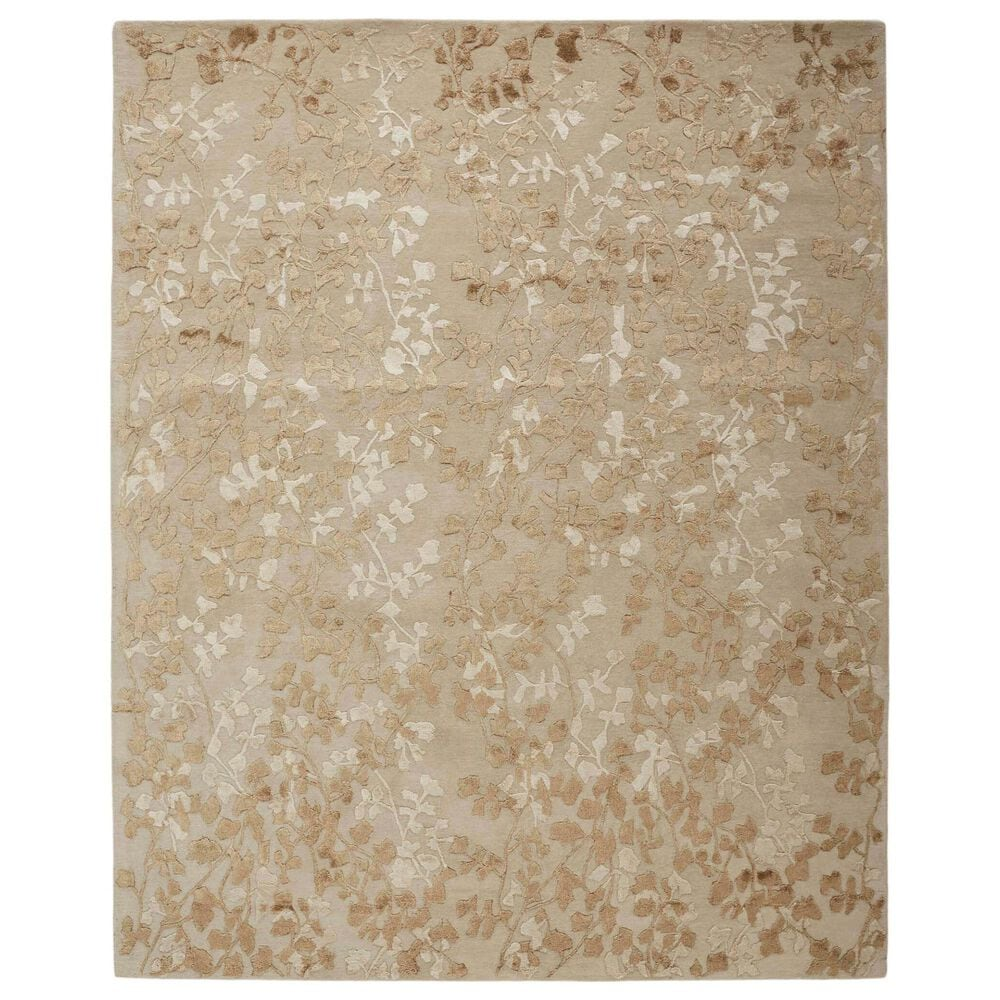 Feizy Rugs Bella 2' x 3' Beige and Gold Area Rug, , large