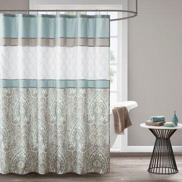 "Hampton Park Shawnee 72"" Shower Curtain in Blue, , large"