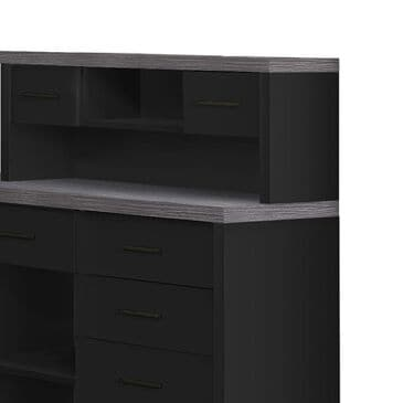 Monarch Specialties Computer Desk in Black and Grey, , large