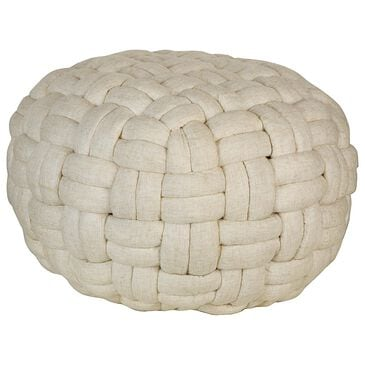 """Moe""""s Home Collection Bronya Pouf Vanilla in White, , large"""