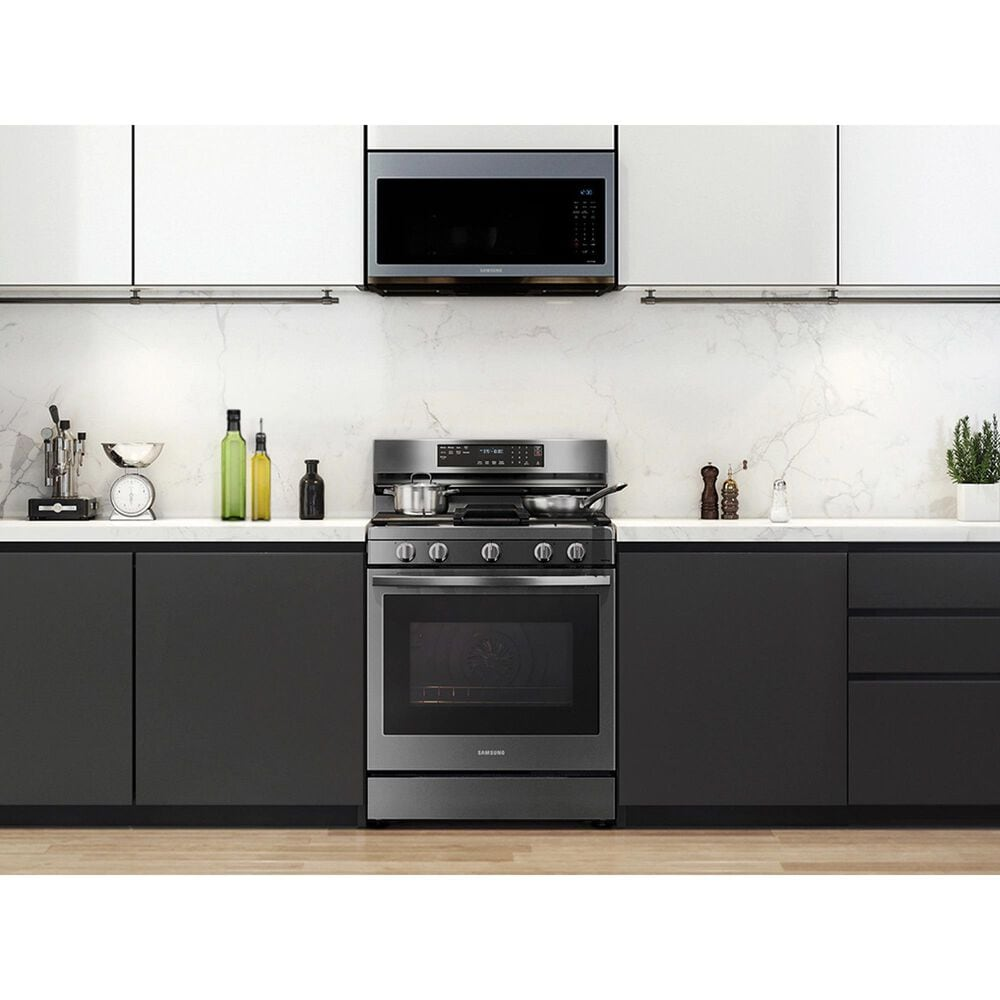 Samsung 6 Cu. Ft. Freestanding Gas Range with No-Preheat Air Fry and Convection+ in Black Stainless Steel, , large