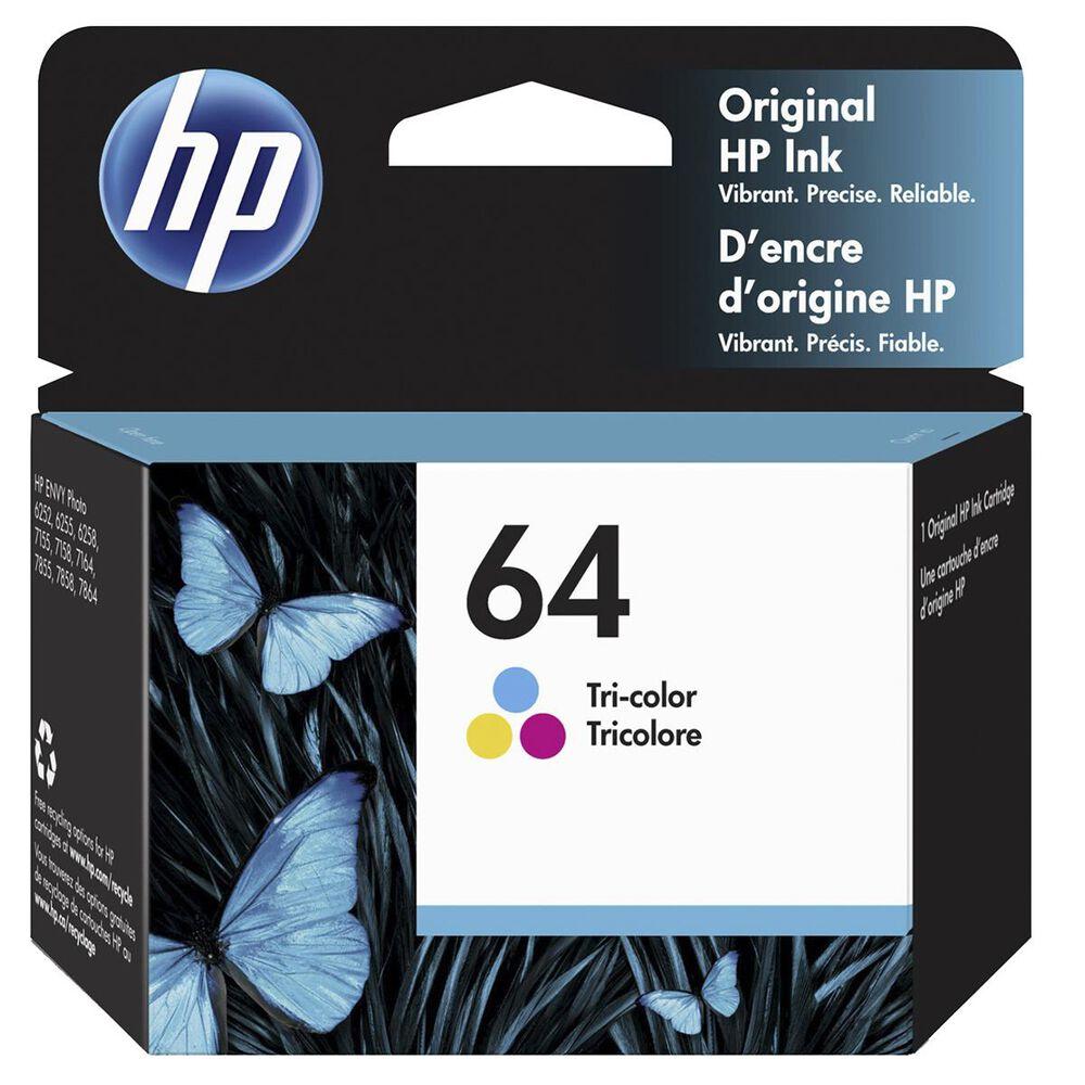HP 64 Tri-Color Ink Cartridge, , large