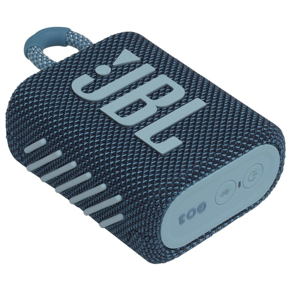 JBL Go 3 Waterproof Portable Bluetooth Speaker in Blue, , large