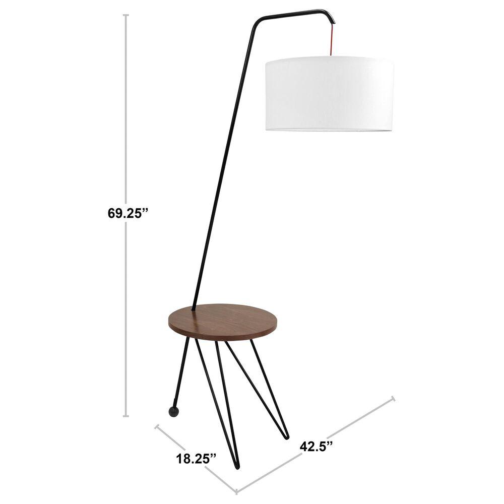 Lumisource Stork Floor Lamp in White/Walnut, , large