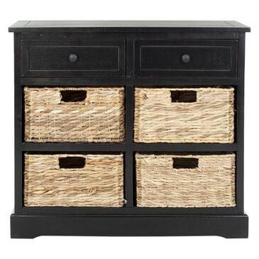 Safavieh Herman 6-Drawer Storage Unit in Distressed Black, , large