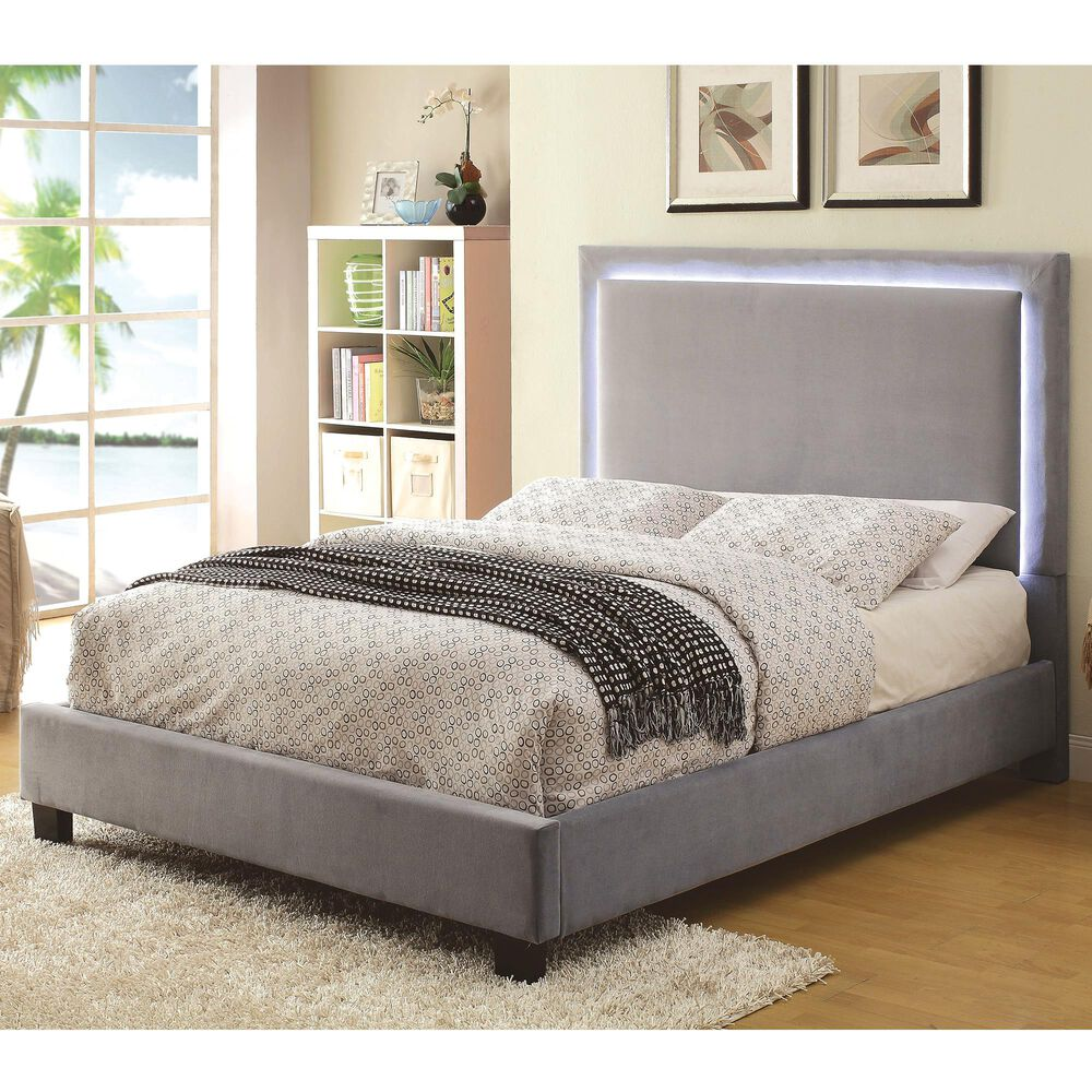 Furniture of America May Queen Platform Bed in Gray, , large