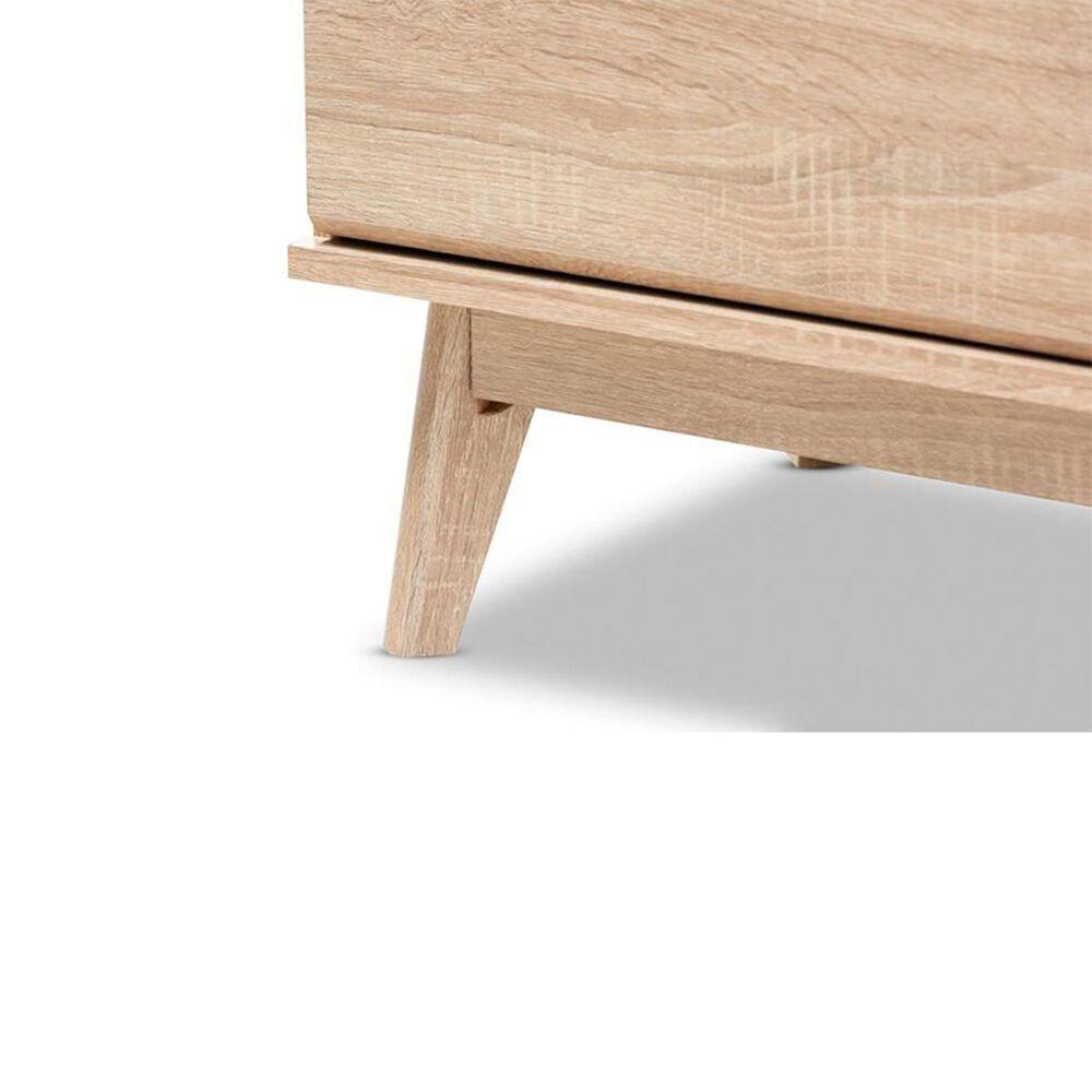 Baxton Studio Miren 6 Drawer Dresser in Oak Brown/Dark Grey, , large