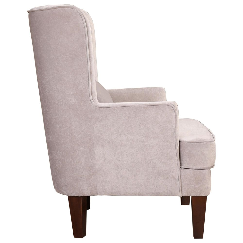 Moe's Home Collection Prince Arm Chair in Grey Velvet, , large