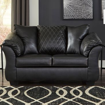 Signature Design by Ashley Betrillo Loveseat in Black, , large