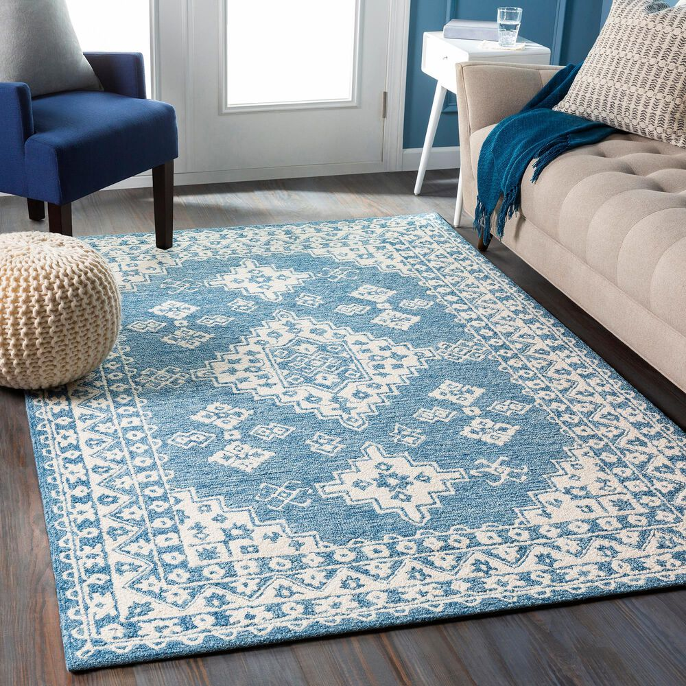 Surya Granada GND-2326 8' x 10' Pale Blue, Beige and Sky Blue Area Rug, , large