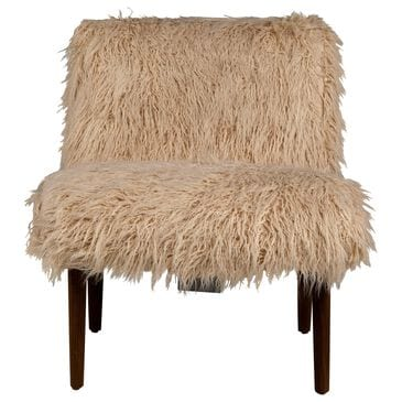 Moda Forbes Accent Chair in Sand Llama Fur, , large