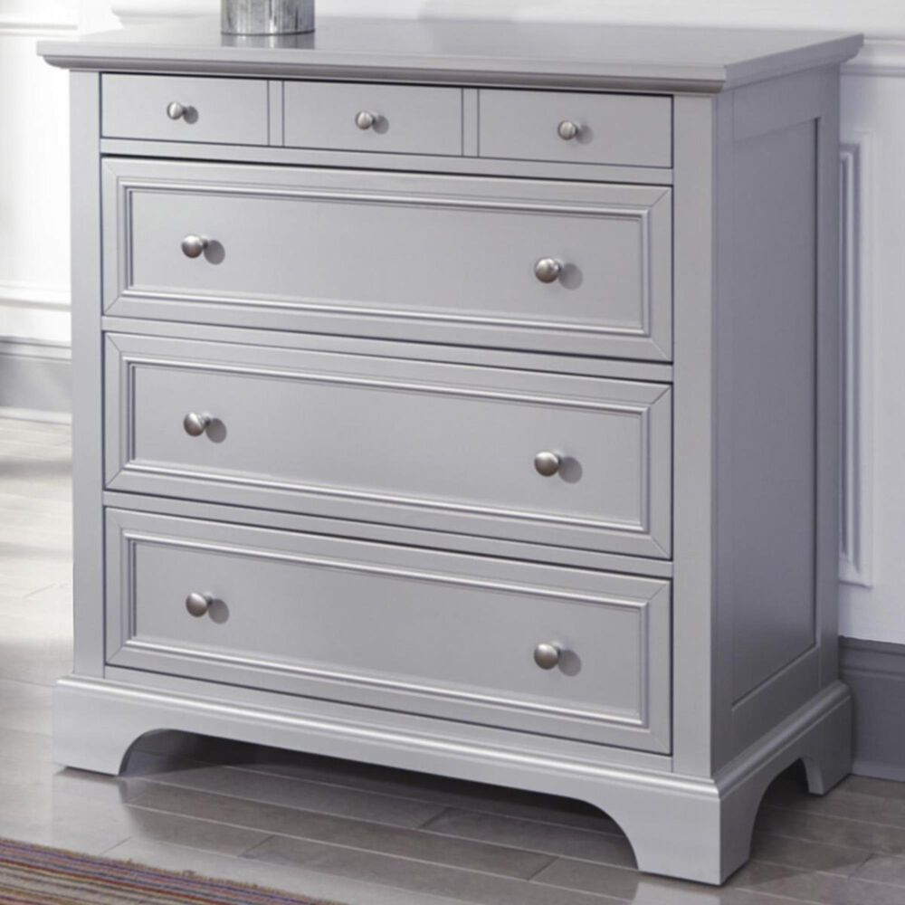 Homestyles Venice 4-Drawer Chest in Silver/Grey, , large
